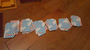 Cross-Up Letter Card Piles