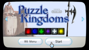 Puzzle Kingdoms Title Screen