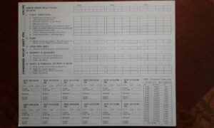 Air Empire score sheet