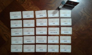 Codenames initial card setup.