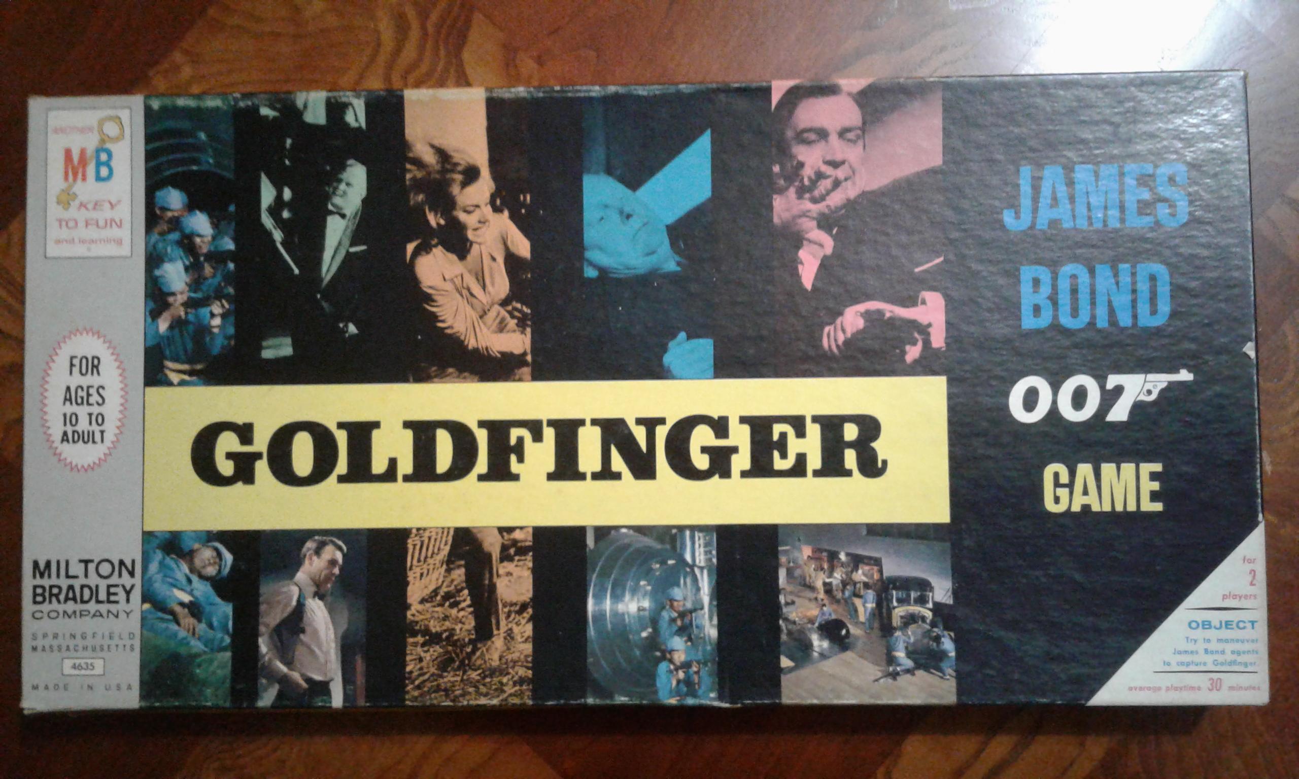 Goldfinger James Bond 007 Game Box
