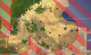 The player can get a bird eye's view of the battlefield.