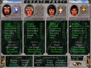Create Party Screen