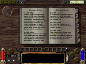 Notes are kept of vital in-game info you can refer to later.