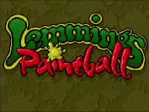 Lemmings Paintball Title Screen