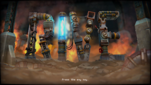 RIVE: Wreck, Hack, Die, Retry! Title Screen