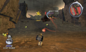 Player begins controlling one person as in a third-person shooter.
