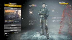Tom Clancy's The Division Character Screen