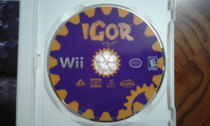 Igor: The Game Game Disc