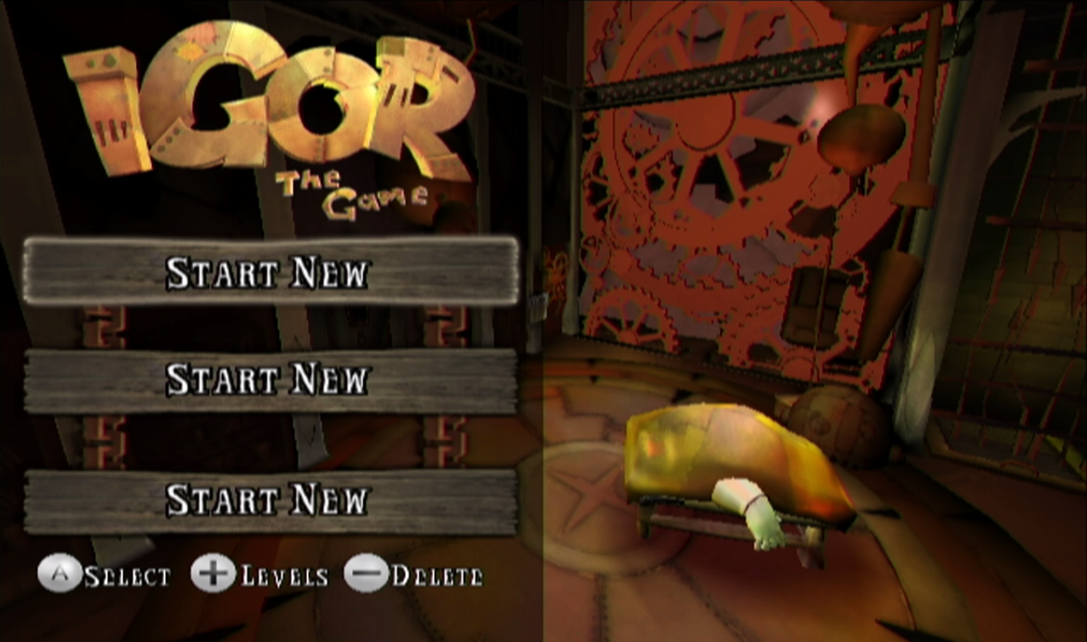 Igor: The Game Main Menu