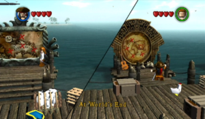 Choose between Pirates of the Caribbean movies to play through in port.