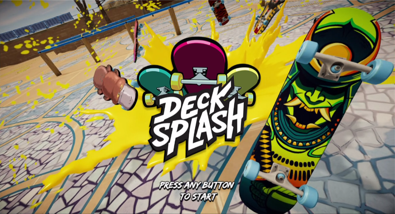Decksplash Title Screen