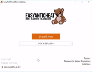 EasyAntiCheat Service is required to play.