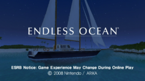 Endless Ocean Title Screen