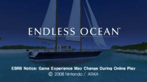 Endless Ocean Title Screen