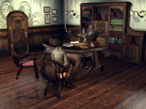 There is so much woodgrain in Syberia.