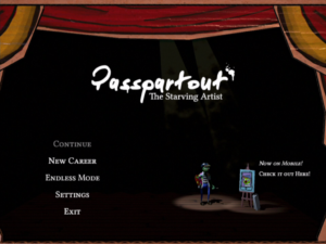 Passpartout: The Starving Artist Title Screen