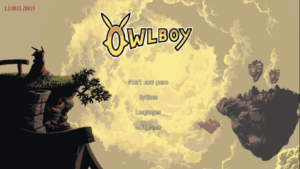 Owlboy Title Screen