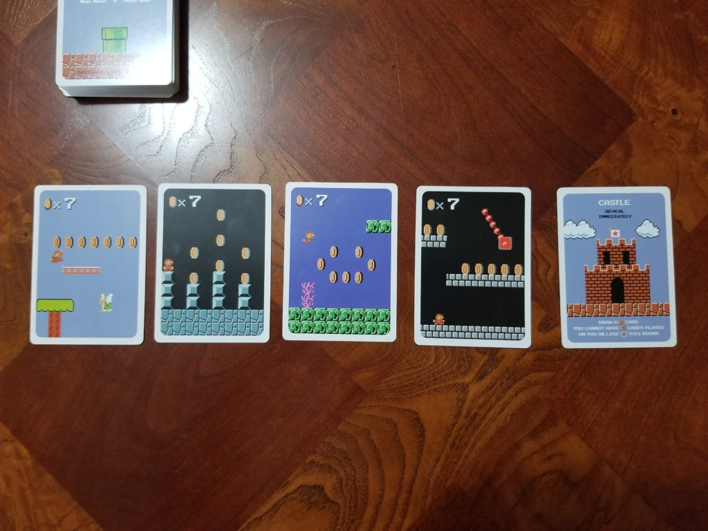 The four suits of the level card deck.