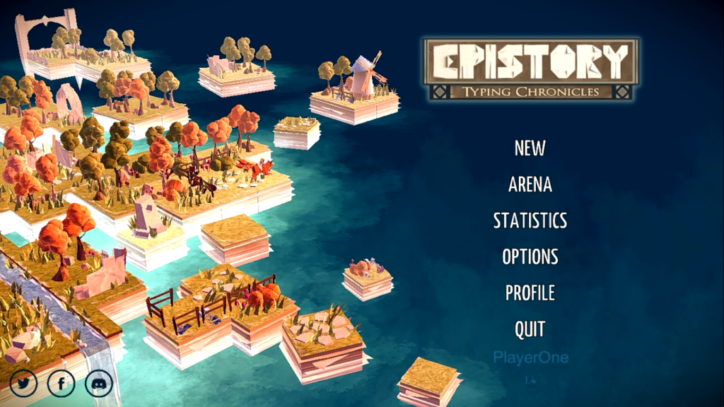 Epistory: Typing Chronicles Title Screen