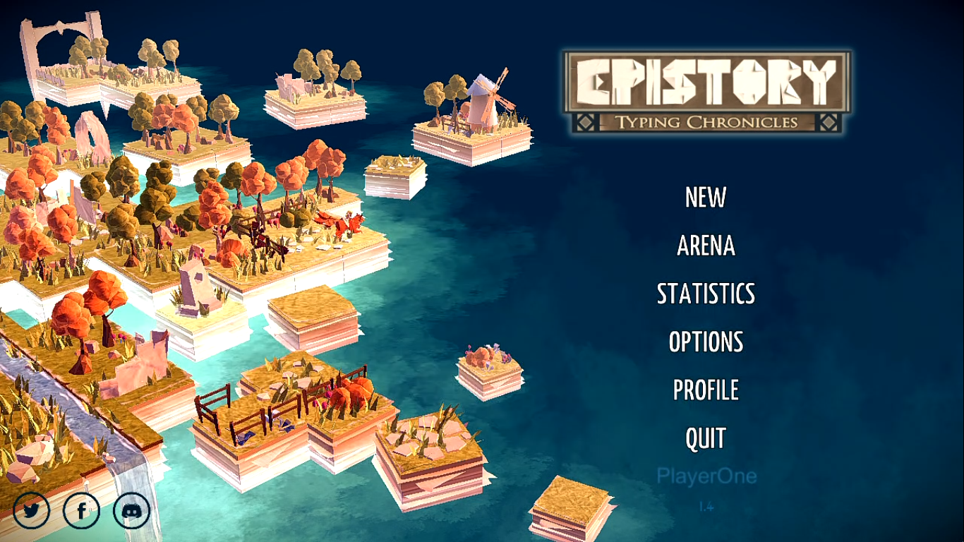 Epistory Title Screen