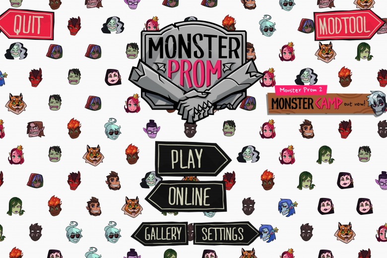 Monster Prom Title Screen